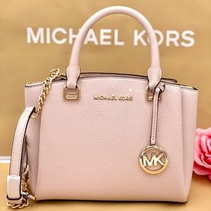 Michael Kors Maxine Small Pebbled Leather Satchel